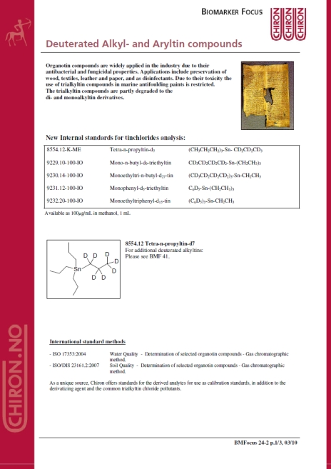 BMF 24 - Deuterated Alkyl- and Aryltin compounds