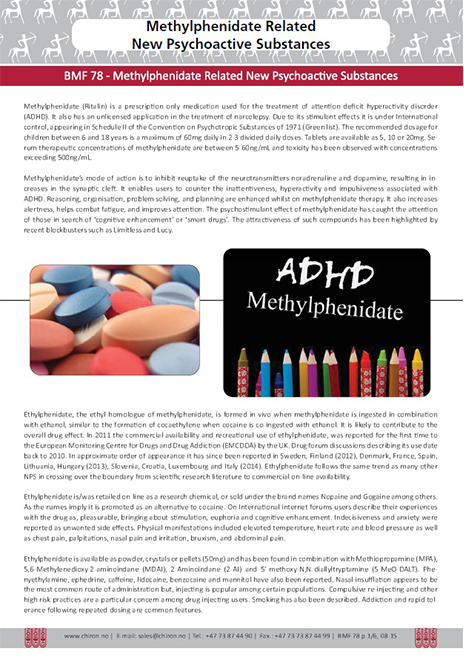 BMF 78-Methylphenidate Related New Psychoactive Substances