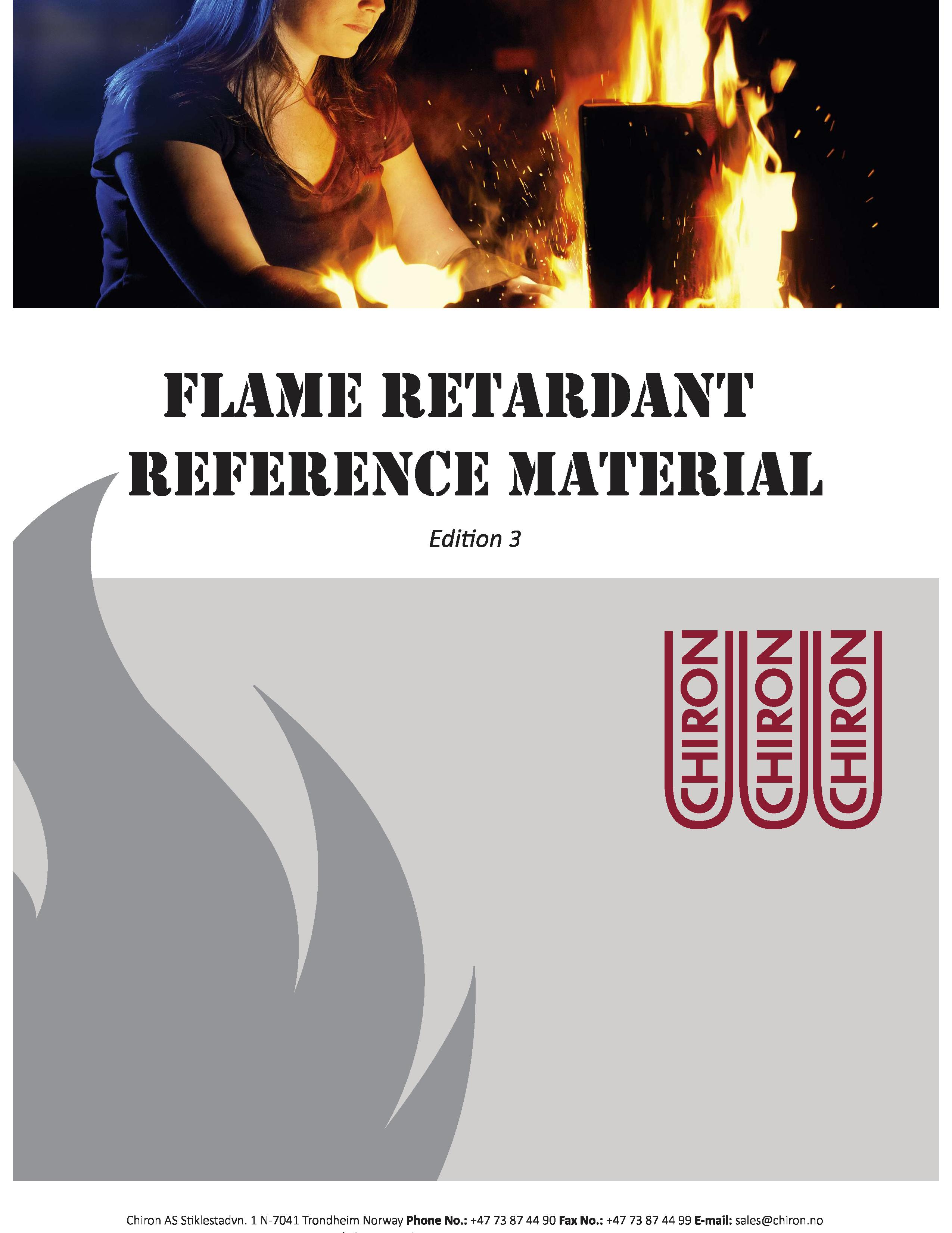 Flame Retardant Reference Materials, Edition 3